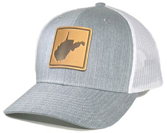 Homeland Tees West Virginia Leather Patch Trucker Hat