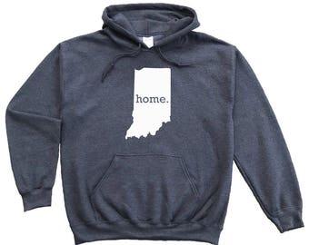 Homeland Tees Indiana Home Pullover Hoodie Sweatshirt