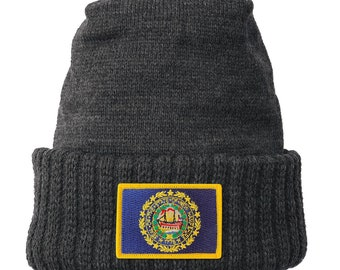 Homeland Tees New Hampshire Flag Patch Cuff Beanie