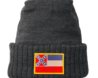 Homeland Tees Mississippi Flag Patch Cuff Beanie