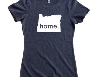 e04d96d0db867 Homeland Tees Oregon Home State Women s T-Shirt