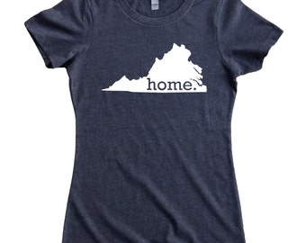 Homeland Tees Virginia Home State Women's T-Shirt