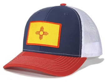 Homeland Tees New Mexico Flag Patch Trucker Hat