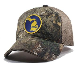 Homeland Tees Michigan Home State Realtree Camo Trucker Hat