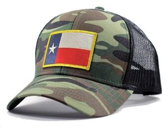 Homeland Tees Texas Flag Hat - Army Camo Trucker