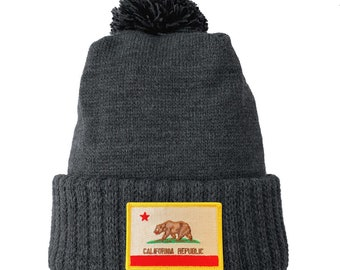 Homeland Tees California Flag Patch Cuff Beanie