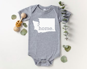 Homeland Tees Washington Home Bodysuit Baby Boy Girl Newborn Coming Home Outfit Shower Gift