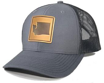 Homeland Tees Washington Leather Patch Trucker Hat