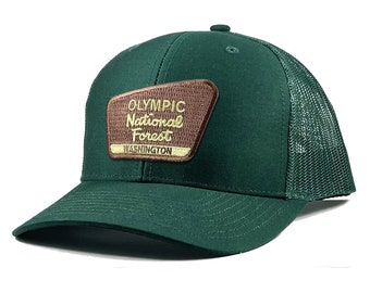 Homeland Tees Olympic National Forest Washington Patch Trucker Hat