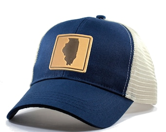 Homeland Tees Illinois Leather Patch Hat - Trucker