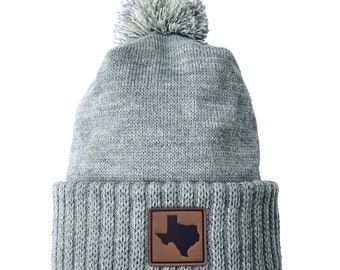 Homeland Tees Texas Leather Patch Cuff Beanie
