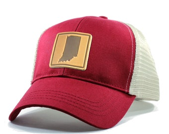 Homeland Tees Indiana Leather Patch Hat - Trucker