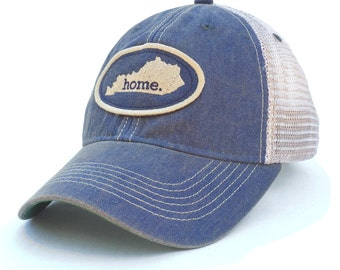 Homeland Tees Kentucky Home Trucker Hat - Vintage Blue