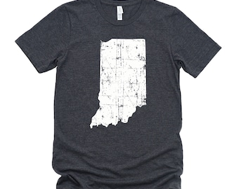 Homeland Tees Indiana State Vintage Look Distressed Unisex T-shirt