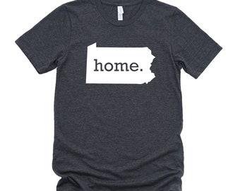 Homeland Tees Pennsylvania Home State T-shirt - Unisex