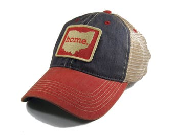 Homeland Tees Ohio Home Trucker Hat - Red/Blue