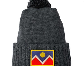 Homeland Tees Denver Flag Patch Cuff Beanie