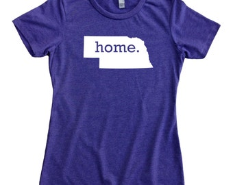 Homeland Tees Nebraska Home State Women's T-Shirt