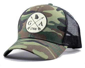 Homeland Tees Georgia Arrow Hat - Army Camo Trucker