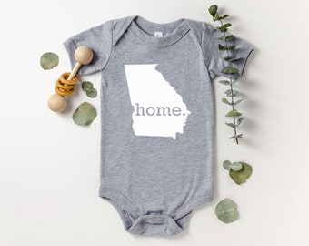 Homeland Tees Georgia Home Bodysuit Baby Boy Girl Newborn Coming Home Outfit Shower Gift