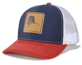 Homeland Tees Alaska Leather Patch Trucker Hat