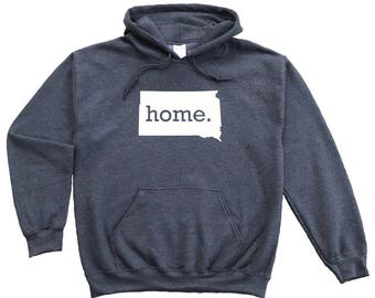 Homeland Tees South Dakota Home Pullover Hoodie Sweatshirt