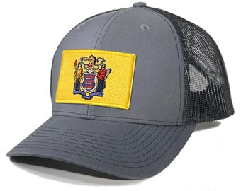 Homeland Tees New Jersey Flag Patch Trucker Hat