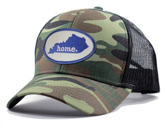 Homeland Tees Kentucky Home Trucker Hat - Army Camo