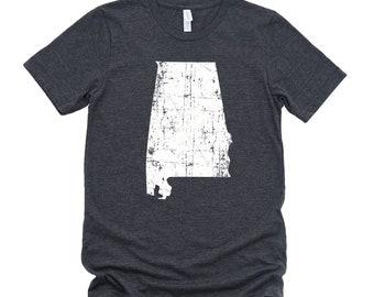 Homeland Tees Alabama State Vintage Look Distressed Unisex T-shirt