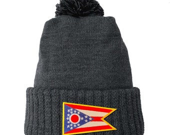 Homeland Tees Ohio Flag Patch Cuff Beanie