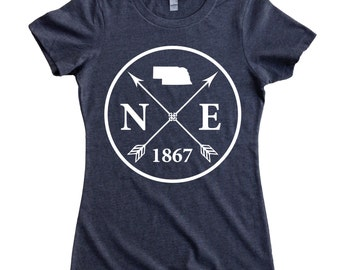 f72c2a19832 Homeland Tees Nebraska Arrow Women s T-Shirt