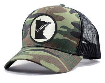 Homeland Tees Minnesota Home Army Camo Trucker Hat
