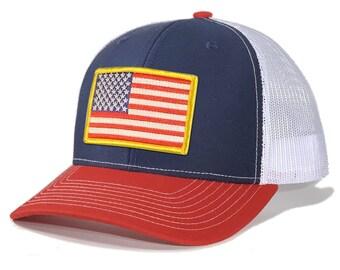 Homeland Tees USA Flag Patch Trucker Hat