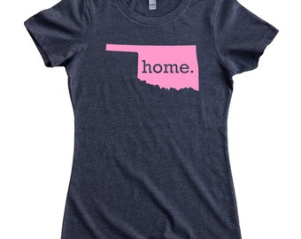 Oklahoma Home State T-Shirt Women's Tee PINK EDITION - Sizes S-XXL