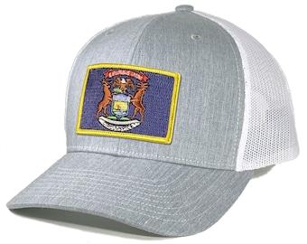 Homeland Tees Michigan Flag Patch Trucker Hat