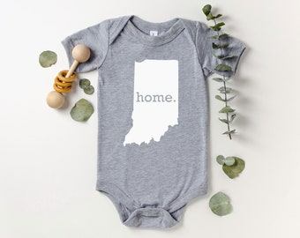 Homeland Tees Indiana Home Bodysuit Coming Home Outfit Shower Gift Newborn Baby Boy Girl