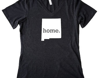 V Neck New Mexico Home State T-Shirt Women's Triblend Tee - Sizes S-XXL