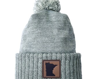 Homeland Tees Minnesota Leather Patch Cuff Beanie