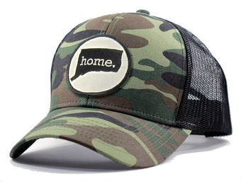Homeland Tees Connecticut Home Army Camo Trucker Hat