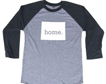 Homeland Tees Colorado Home Tri-Blend Raglan Baseball Shirt