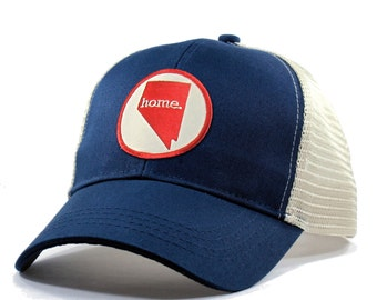 Homeland Tees Nevada Home Trucker Hat - Red Patch