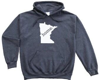 Homeland Tees Minnesota Home Pullover Hoodie Sweatshirt