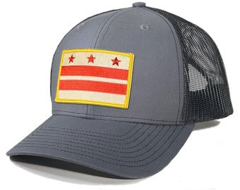 Homeland Tees Washington DC Flag Patch Trucker Hat
