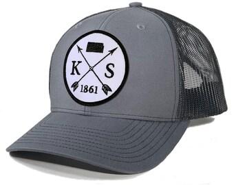 Homeland Tees Kansas Arrow Patch Trucker Hat