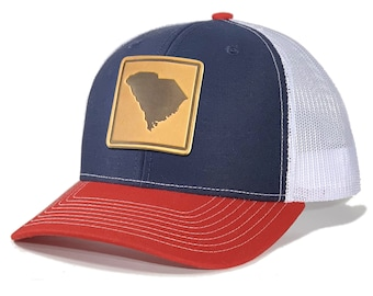 Homeland Tees South Carolina Leather Patch Trucker Hat