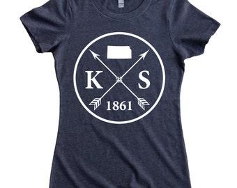 Homeland Tees Kansas Arrow Women's T-Shirt