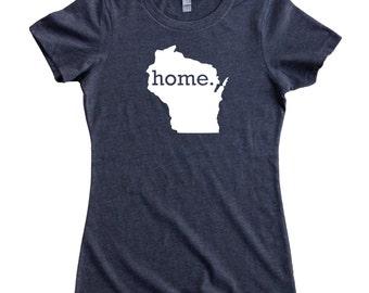 Homeland Tees Wisconsin Home State Women's T-Shirt