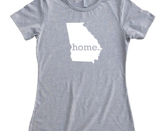 Homeland Tees Georgia Home State Women's T-Shirt