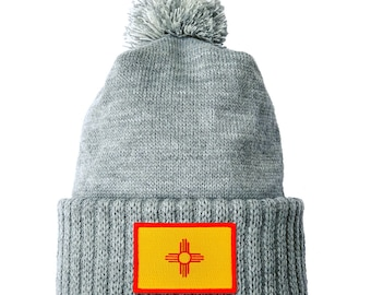 Homeland Tees New Mexico Flag Patch Cuff Beanie