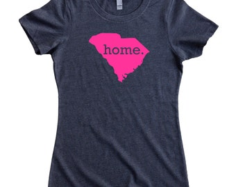 South Carolina Home State T-Shirt Women's Tee PINK EDITION - Sizes S-XXL